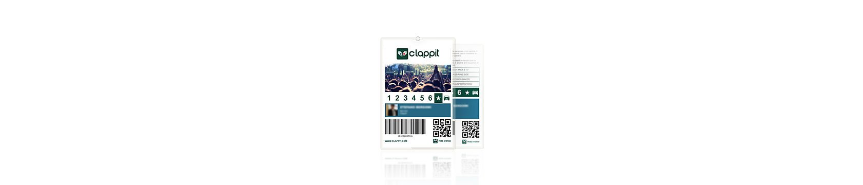 Clappit-Full-Ticketing-Pass-Crew-Venue-Grafica-Personalizzata-Brand-Evento-A4-Top-001