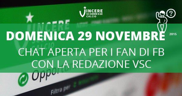 VSC Open Chat 29 Novembre 2015 su Facebook