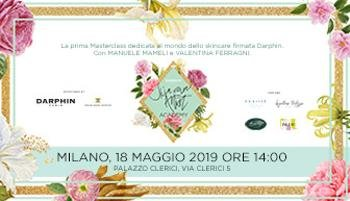 The first skincare Masterclass signed Darphin with Manuele Mameli and Valentina Ferragni